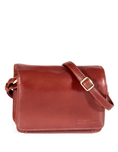 Derek Alexander Leather Flap Organizer-BROWN-One Size