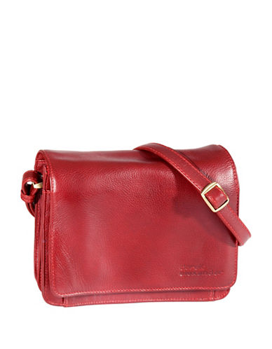 Derek Alexander Leather Flap Organizer-RED-One Size