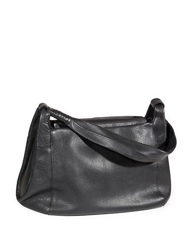 Derek Alexander Tech-Friendly Leather Shoulder Bag-BLACK-One Size