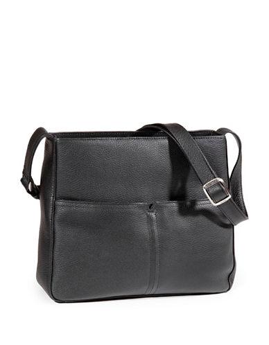Derek Alexander Pebbled Leather Shoulder Bag-BLACK-One Size