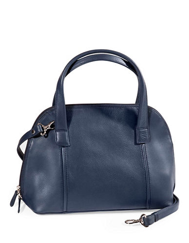 Derek Alexander Double Handle Zip Around-NAVY-One Size