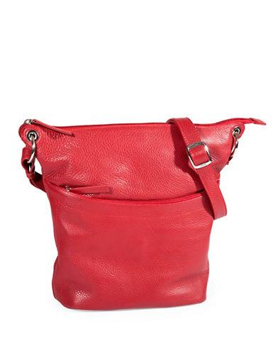Derek Alexander North South Top Zip Slouch Handbag-RED-One Size
