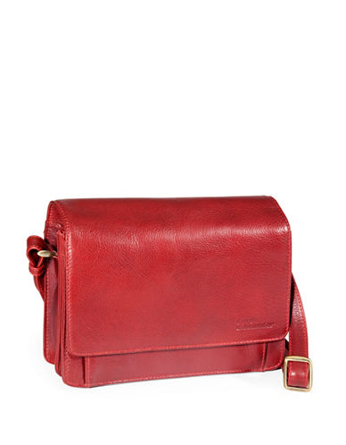 Derek Alexander Leather Half-Flap Organizer-RED-One Size