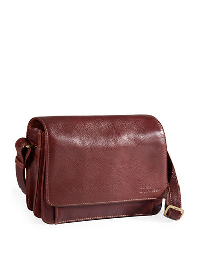 Derek Alexander Leather Half-Flap Organizer-BROWN-One Size