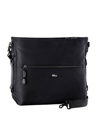 Derek Alexander Top Zip Tablet Friendly Crossbody Bag-BLACK-One Size