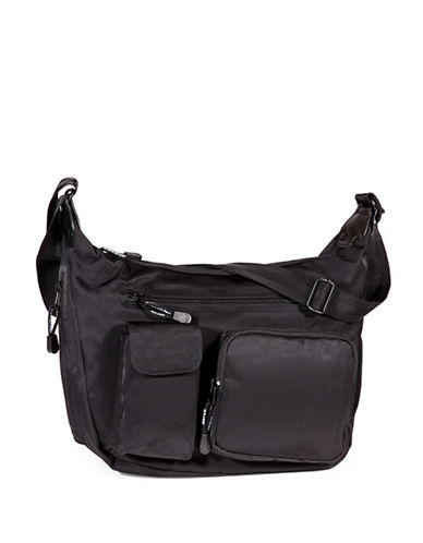 Derek Alexander Top Zip Hobo Bag-BLACK-One Size