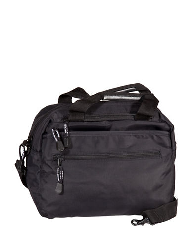Derek Alexander Top Zip Organizer Satchel-BLACK-One Size