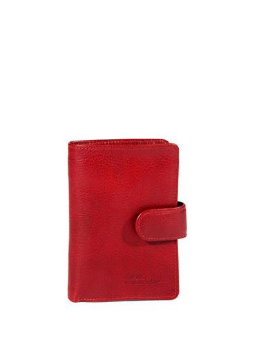 Derek Alexander Showcard Bi-Fold Wing Wallet-RED-One Size