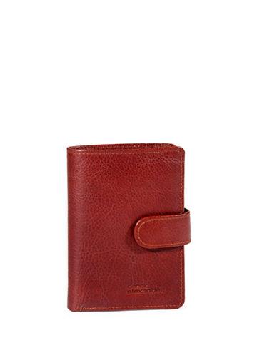 Derek Alexander Showcard Bi-Fold Wing Wallet-WHISKY-One Size