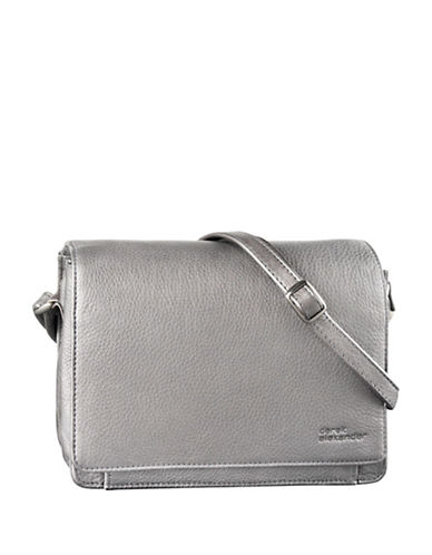 Derek Alexander Multi Compartment Leather Organizer-SILVER-One Size