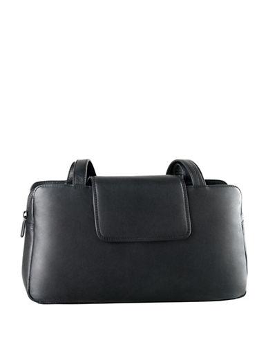 Derek Alexander Twin Leather Shoulder Bag-BLACK-One Size