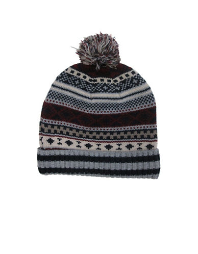 Hudson North Fairisle Knit Tuque-NAVY-One Size
