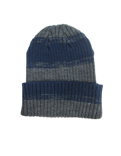 Hudson North Rugby Striped Turn Cuff Tuque-BLUE-One Size