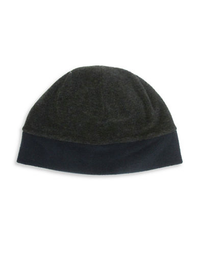 Hudson North Reversible Polar Fleece Tuque-CHARCOAL-One Size