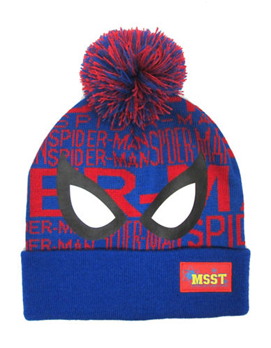 Spider-Man Boys Spider-Man Pom-Pom Tuque-BLUE-One Size