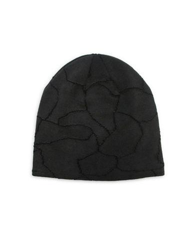 1670 Cracked Stone Knit Beanie-BLACK-One Size