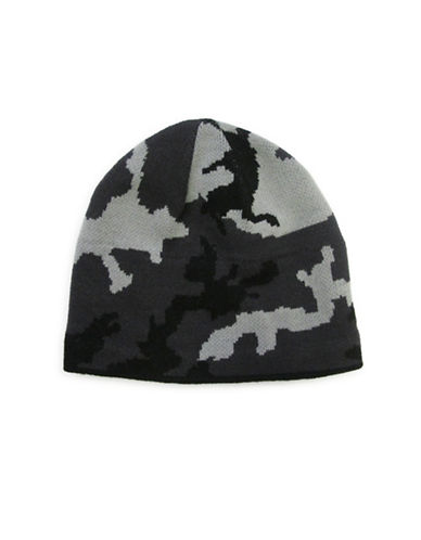 1670 Camouflage Knit Jacquard Tuque-GREY-One Size