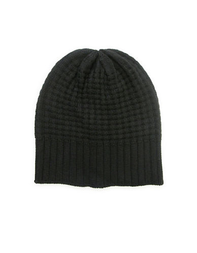 1670 Waffle Knit Tuque-BLACK-One Size