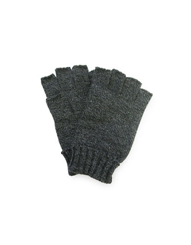 1670 Knit Fingerless Gloves-GREY-One Size