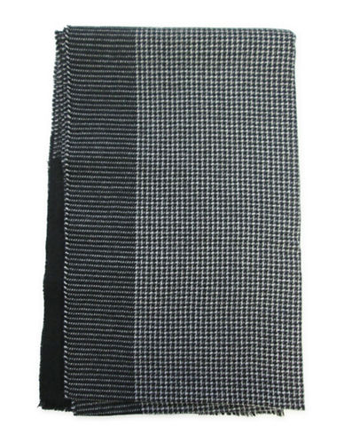 1670 Herringbone Woven Scarf-BLACK-One Size