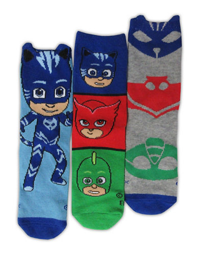 Pj Masks Boys Three-Pack PJ Masks Crew Sock Set-ASSORTED-2-3