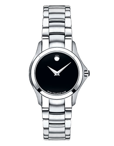 Movado Masino Stainless Steel Bracelet Watch-SILVER-One Size