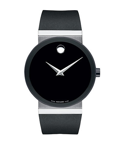 Movado Mens Sapphire Synergy Watch-BLACK-One Size