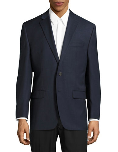 Chaps Slim Fit Total Comfort Suit Jacket-BLUE-48 Tall