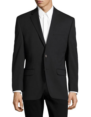 Chaps Slim Fit Total Comfort Suit Jacket-BLACK-40 Regular