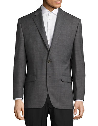 Chaps Slim Fit Stretch Sports Jacket-GREY-38 Regular