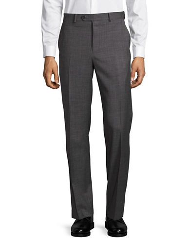 Chaps Performance Series Slim-Fit Suit Pants-GREY-34X32