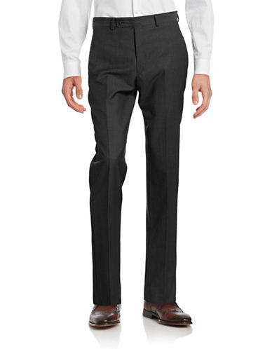 Calvin Klein Big and Tall Slim Fit Wool Suit Pants-CHARCOAL-44X30