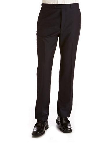 Calvin Klein Navy Modern Fit Suit Separate Pants-NAVY TONAL STRIPE-42X32