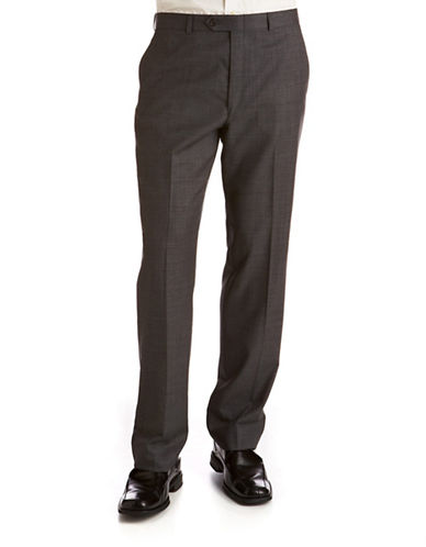 Lauren Ralph Lauren Big and Tall Classic Fit Suit Separate Pants-GREY-48X32