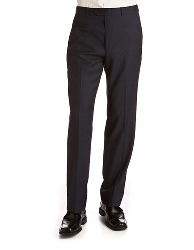 Lauren Ralph Lauren Big and Tall Classic Fit Suit Separate Pants-NAVY-48X32