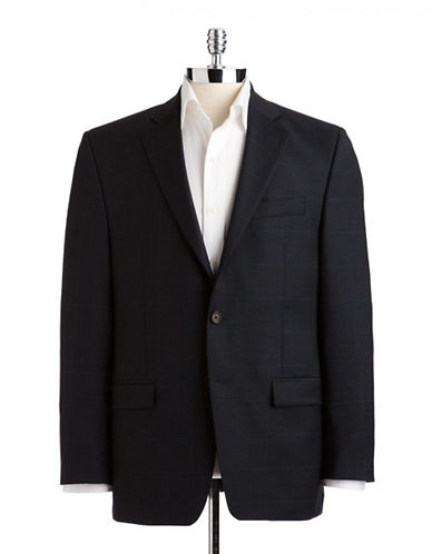 Lauren Ralph Lauren Classic Fit Suit Separate Jacket-NAVY-38 Short