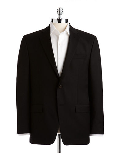 Lauren Ralph Lauren Classic Fit Suit Separate Jacket-PLAIN BLACK-48 Tall