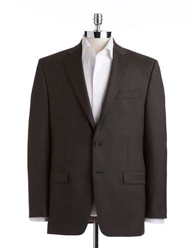 Lauren Ralph Lauren Classic Fit Suit Separate Jacket-OLIVE SHARKSKIN-38 Regular