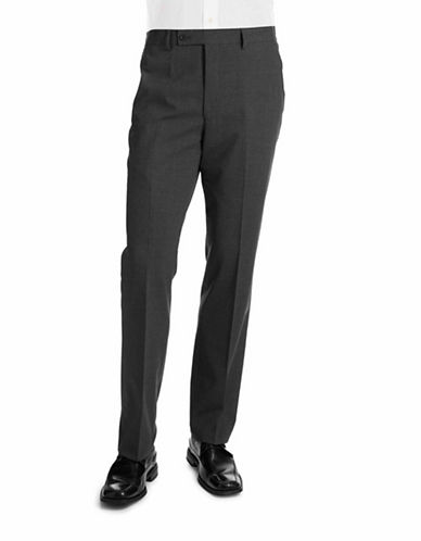 Dkny Stretch Wool Blend Dress Pants-GREY-36X30