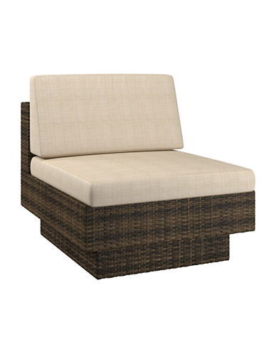 Corliving Park Terrace Weave Patio Middle Seat-BROWN-One Size