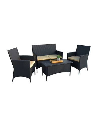 Corliving Creekside Cascade Four-Piece Patio Set-YELLOW-One Size