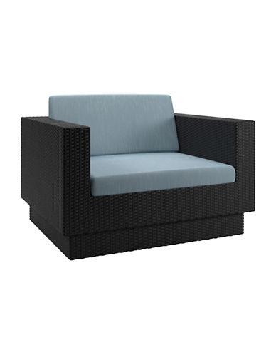 Corliving Park Terrace Weave Patio Chair-BLUE-One Size