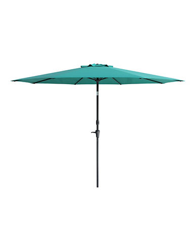 Corliving Deluxe 10-Feet Tilting Patio Umbrella-BLUE-One Size