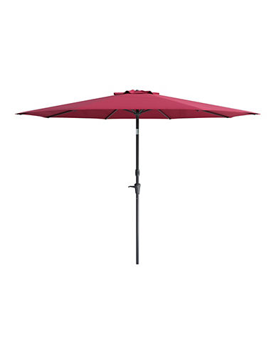 Corliving Deluxe 10-Feet Tilting Patio Umbrella-RED-One Size