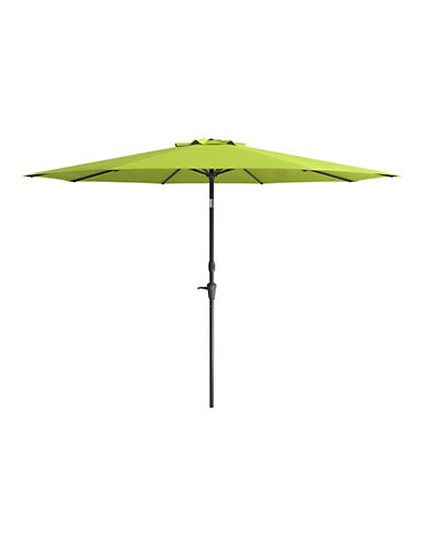 Corliving Deluxe 10-Feet Tilting Patio Umbrella-GREEN-One Size