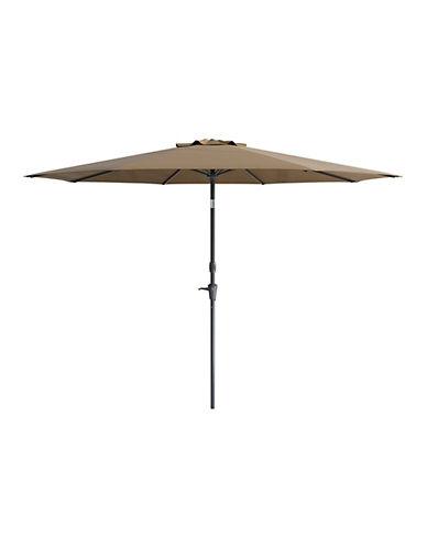 Corliving Deluxe 10-Feet Tilting Patio Umbrella-BROWN-One Size