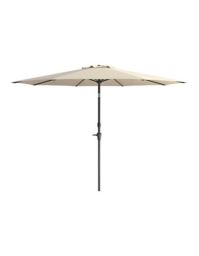 Corliving Deluxe 10-Feet Tilting Patio Umbrella-WHITE-One Size