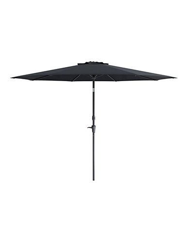 Corliving Deluxe 10-Feet Tilting Patio Umbrella-BLACK-One Size