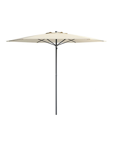 Corliving 7.5-Feet Deluxe Beach Umbrella-WHITE-One Size