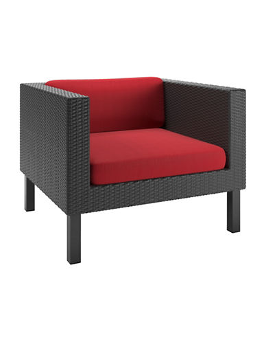 Corliving Textured Patio Chair-RED-One Size